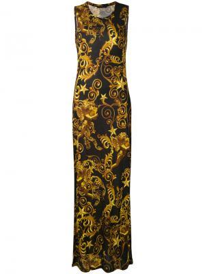 Длинное платье Lana Philipp Plein. Цвет: чёрный