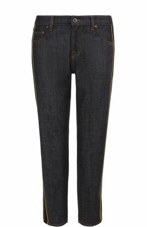 Укороченные джинсы прямого кроя с лампасами Victoria by Beckham. Цвет: синий