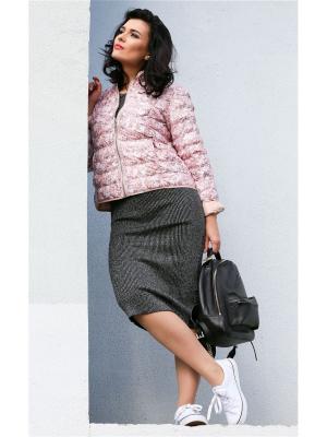 Куртка Lanicka. Цвет: бледно-розовый, розовый, белый