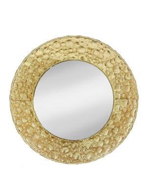 Декоративная тарелка RICH LINE Home Decor. Цвет: золотистый