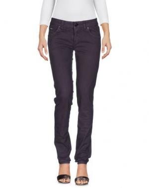 Джинсовые брюки DEK'HER. Цвет: темно-фиолетовый
