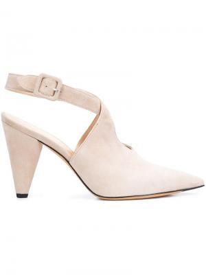 Туфли с ремешком на щиколотке Derek Lam. Цвет: телесный