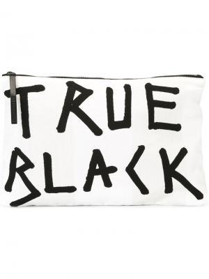 Клатч true black Ann Demeulemeester. Цвет: белый