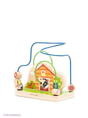 Деревянный лабиринт Веселая ферма Toys Lab. Цвет: зеленый