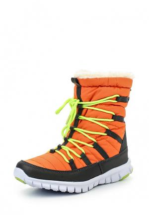 Дутики King Boots. Цвет: оранжевый