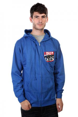 Толстовка  Fleece Zip Hello Royal Osiris. Цвет: синий