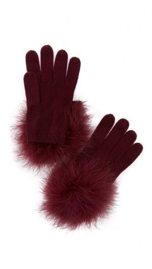 Marabou Pom Gloves Kate Spade New York