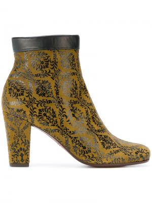 Embroidered zipped boots Chie Mihara. Цвет: зелёный