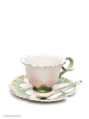 Чайная пара Pavone. Цвет: зеленый, розовый