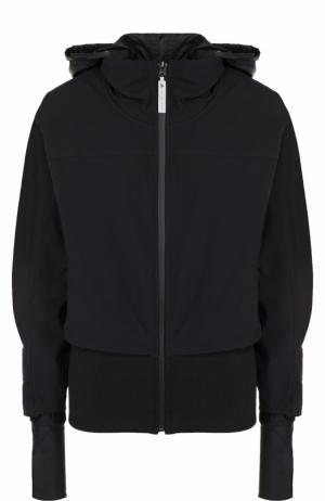 Спортивная куртка на молнии с капюшоном Adidas by Stella McCartney. Цвет: черный