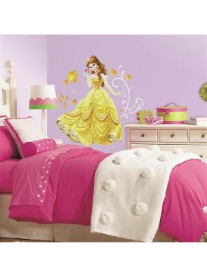 Наклейки для декора - Дисней: Принцессы, Красавица ROOMMATES. Цвет: белый, голубой, желтый, зеленый, красный, оранжевый, серый, синий, черный