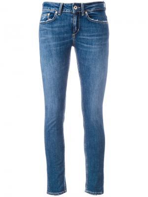 Укороченные джинсы скинни Dondup. Цвет: синий