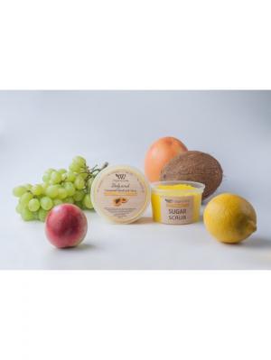 Сахарный скраб для тела Папайя OrganicZone. Цвет: светло-желтый