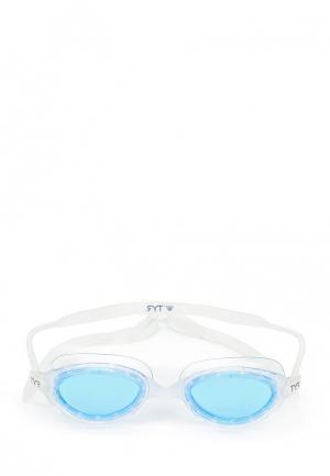 Очки для плавания TYR. Цвет: голубой