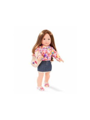 Кукла Елизавета, шатенка GOTZ. Цвет: белый, желтый, розовый, синий
