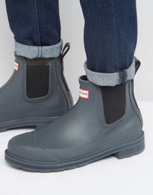 Hunter Черные резиновые сапоги Original. Цвет: черный
