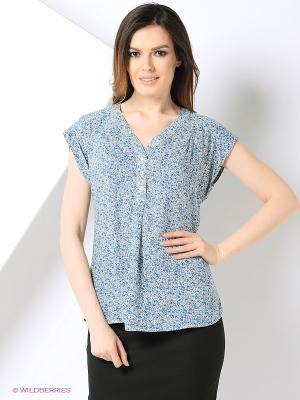 Блуза PRIZZARO. Цвет: белый, синий