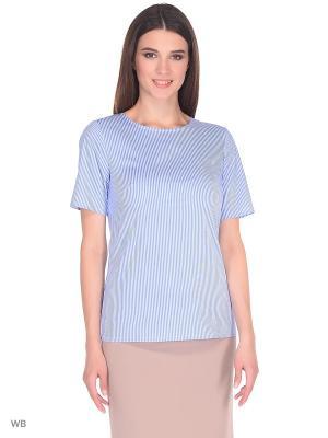 Блузка APRELLE. Цвет: лазурный, белый