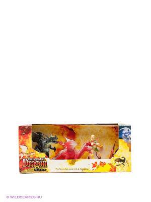 Игровой набор Драконы Happy Kin. Цвет: темно-серый, малиновый, желтый