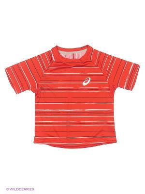 Футболка Club Graphic Short Sleeve Tee ASICS. Цвет: красный