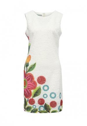 Платье Desigual. Цвет: белый