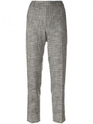 Укороченные брюки с лампасами Essentiel Antwerp. Цвет: серый