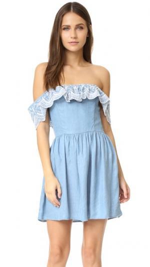 Платье Dream Vacay Lovers + Friends. Цвет: легкая затертость