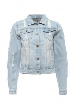 Куртка джинсовая By Swan. Цвет: голубой