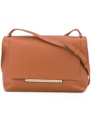 Средняя сумка на плечо Delpozo. Цвет: коричневый