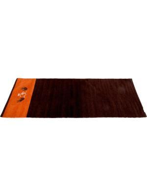 Коврик для йоги Indibird Home. Цвет: темно-коричневый, оранжевый