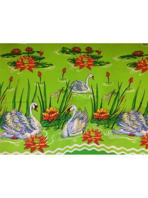 Пляжное вафельное полотенце Dream time. Цвет: зеленый