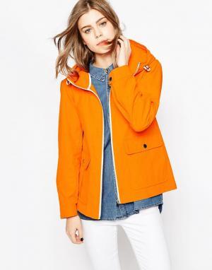 Gloverall Непромокаемая куртка с карманами спереди. Цвет: оранжевый