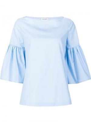 Блузка с оборками Suno. Цвет: синий