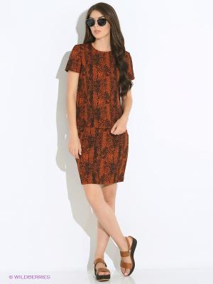 Блузка Modis. Цвет: коричневый, черный