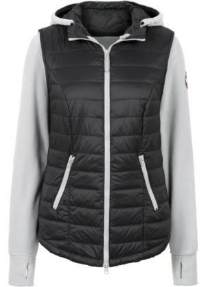 Жилетка с интегрированной флисовой курткой (черный) bonprix. Цвет: черный