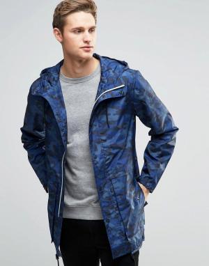 Parka London Камуфляжная куртка Soren. Цвет: темно-синий