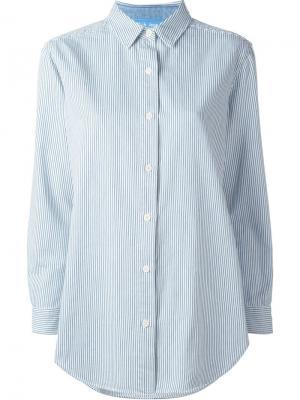 Рубашка свободного кроя в полоску Mih Jeans. Цвет: белый