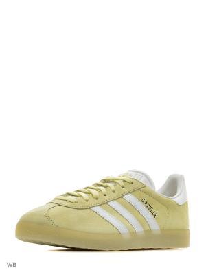 Кеды Originals Gazelle Adidas. Цвет: желтый, белый