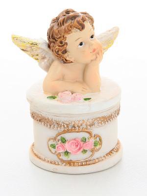 Шкатулка Ангелочек Elan Gallery. Цвет: бежевый, розовый
