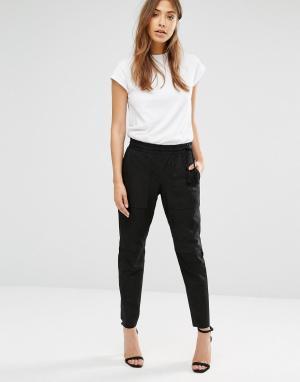Muubaa Кожаные брюки-галифе Thornhil. Цвет: черный