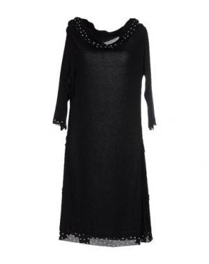Платье до колена LA FEE MARABOUTEE. Цвет: черный