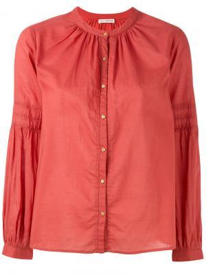 Рубашка с воротником на пуговице Ulla Johnson. Цвет: красный