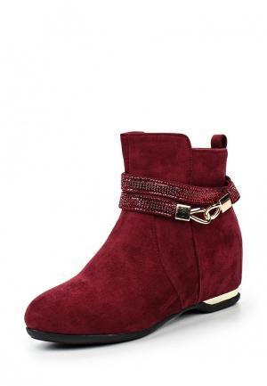 Ботильоны HF Shoes. Цвет: бордовый