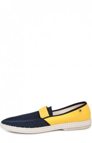 Текстильные эспадрильи Rivieras Leisure Shoes. Цвет: темно-синий