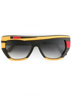 Солнцезащитные очки Hubert Ralph Vaessen. Цвет: чёрный