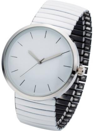 Часы на эластичном браслете (белый) bonprix. Цвет: белый