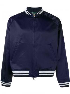Двусторонняя куртка бомбер Sophnet.. Цвет: синий