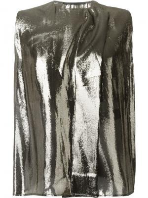 Топ с металлическим отблеском Haider Ackermann. Цвет: металлический