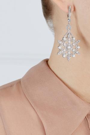 Серьги Снежинки Axenoff Jewellery. Цвет: серебряный