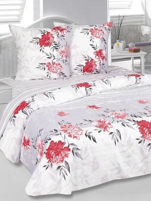 Комплект постельного белья Элен Тет-а-Тет. Цвет: красный, белый